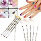 5 Pcs UV Gel Acrylic Brush Painting Pen Set Nail Art Nail Manicure Design S0BZ