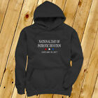 NATIONAL DAY PATRIOTIC DEVOTION PRESIDENT TRUMP Mens Charcoal Hoodie