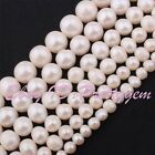 "Natural Freshwater Pearl White Gemstone Beads 15"" 2-4, 4-6,5-7,7-9,8-10,10-11mm"