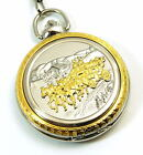 Boxx Jumbo Size Antique Vintage Style Pocket Watch on 12 Inch Chain Gift for Him
