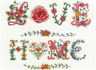 DMC Say It With Flowers Cross Stitch kits-BK1454 ,BK1453 Home &  Love
