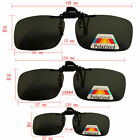 Black Polarized Clip on Flip UP Over sunglass glasses eyeglass spectacle lens BE