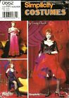 PATTERN SIMPLICITY Wild West Miss Kitty Saloon Gal Can Can 6 to 20 Costume 9899