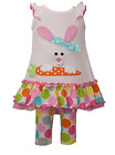 Bonnie Jean Tod Girl Easter Pageant Outfit Large Dot Bunny Knit Set 2T 3T 4T