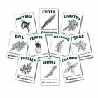 10 Varieties Heirloom Non-GMO USDA Organic Herb Garden Seeds Kit