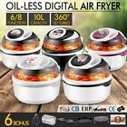 10L Multi LED Display Healthy Rotisserie Air Fryer Convection Turbo Oven Cooker
