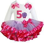 Lavender Hot Pink Satin Trimmed Tutu 5th Cupcake Outfit Birthday Party Dress