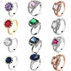 Size 6/7/8/9/10 Gift Finger Rings Fashion Jewelry Silver/Gold Filled Women