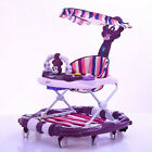 Newly Baby Walker Luxury Toddler Breathable Seat Music Toy Canopy Rocking Horse
