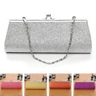 Glitter Fashion Clutch Evening Party Bag Handbag Womens Purse with Chain New