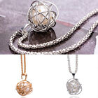 1Pc Woman Silver Plated Pearl Twisted Round Pendant Charm Chain Necklace Jewelry