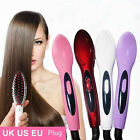 Electric Heat Hair Straightener Comb Brush Styling Tools Ceramics Care Silky YS
