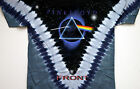 """PINK FLOYD """"DARK SIDE OF THE MOON"""" 2-SIDED TIE DYE T-SHIRT NEW"""