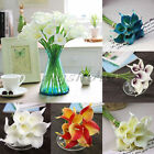 New Artificial PU Real Touch Calla Lily Flower Wedding Bridal Home Decor Bouque
