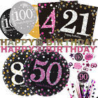 CELEBRATION Birthday Party Ranges - GOLD - PINK - Tableware Balloons Decorations