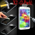 2Pcs Premium Tempered Glass Screen Protector for Samsung S4 S5 S6 S7