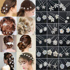 CHIC 10/20/40PCS Wholesale Wedding Bridal Pearl Flower Crystal Hair Pins Clips