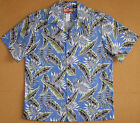 Falling Leaves Men's Shirt vintage RJC cotton aloha shirt made in Hawaii