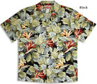 Bird of Paradise Jungle mens vintage RJC aloha cotton shirt  made in Hawaii