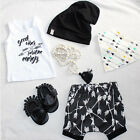 2PCS Newborn Kids Baby Boys Summer T-shirt Tops+Shorts Pants Outfit Clothes Set