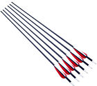 "x6 30"" Shaft 7.2mm Aluminum Arrow feather for 40-70lbs Compound&Recurve bow"