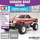 COMBO DEAL! 58384 TAMIYA SUBARU BRAT 1/10th R/C KIT RADIO CONTROL 1/10 CAR NEW!