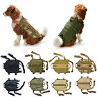 Tactical K9 Dog Military Police Molle Vest Nylon Service Canine Harness