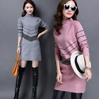2017 New Womens Pullover Sweater Knit Long Sleeve Loose Slim Fit Casual Sweater