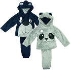Boys Toddler Doggy Panda Hooded Pyjamas 6 Months to 5 Years CLEARANCE SALE