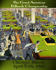 American Billiards Championship Pool Table Chicago 16X20 Vintage Poster FREE S/H $20.85 USD on eBay