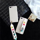 PU Leather  Korean Studs Wristband Hard Case Cover For iPhone  6 6S 7 7Plus Hot