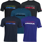 Under Armour Mens Charged Cotton UA Wordmark T Shirt Stretch Short Sleeve