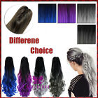 """20"""" 50cm Synthetic Claw On Ponytail Hair Extension Ombre Dip Dye Hair Pieces New"""