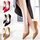 New Fashion Womens Suede Pointed Toe Work Pumps Court Stilettos High Heels Shoes