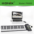 2017 Multifunctional 88Key hand-held Roll Up Piano Electronic Keyboard organ USB