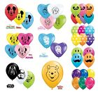 "Disney Character Themed Qualatex 5"" Round & 6"" Heart Shaped Latex Party Balloons"