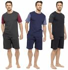 Tom Franks Mens Cotton Jersey T-Shirt & Shorts Pyjama Lounge Set