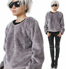 RTBU Urban Punk Teddy Faux Fur Taro Purple Gray Velvet Furry Sweatshirt Jumper $48.0 USD