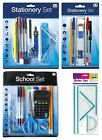 STATIONERY SET - Back to School Maths Pen Pencil Eraser Ruler Protractor {Anker}