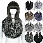 New Ladies Genuine Rabbit Fur Wrap Shawl Women Winter Warm Real Fur Scarves