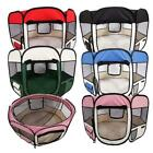 """36""""45""""57"""" Dog Kennel Pet Fence Soft Oxford Playpen Protable Folding Crate"""