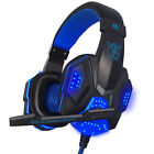 USB 3.5mm Surround Stereo LED Gaming Headset Headband Headphone Mic for PC Gamer
