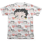 Betty Boop Symbol Sub Mens Sublimation Poly Cotton Shirt White $30.01 CAD