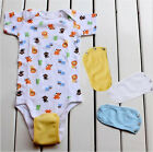 Cute Baby Lengthen Film New Diaper Outfits Bodysuit Jumpsuit Extend Soft Utility