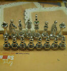 Wholesal 16Pcs/Set Antique Silver Bronze International Chess Charms Pendants