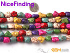 """Mutil Color Howlite Turquoise Stone Beads For Jewelry Making Shape Assorted 15"""""""