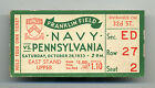 1933 Navy VS. Pennsylvania College Football Ticket Stub Franklin Field