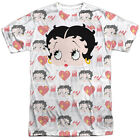 Betty Boop Symbol Sub Mens Sublimation Polyester Shirt White $29.04 CAD