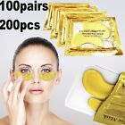 100 Pairs 24k Gold Eye Collagen Aging Wrinkle Under Crystal Gel Patch Anti Mask