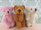 "6 Little Furry Teddy Bear 3.5"" Applique Craft Doll/trim/cute/Baby Favor H121"